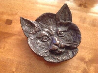 Antique Brass In The Shape Of A Cats Face - L@@K Unusual