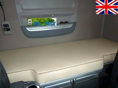 Fit Daf Xf 106 Truck  Bed Cover -Beige Eco Leather