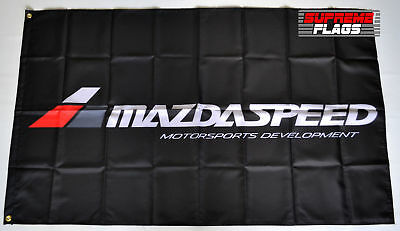 Mazda Speed Flag Banner 3x5 ft Japanese Cars Products Wall Garage Black