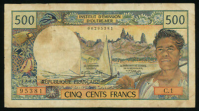 Tahiti 500 francs ND (1970), P-25a, VF