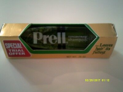 Vintage PRELL CONCENTRATE SHAMPOO Trial Size Tube Unopened Unused