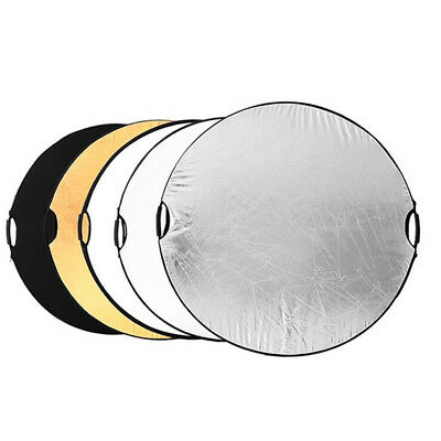 """43"""" Photography Studio 5 in 1 Collapsible Multi Light Reflector With Handle Grip"""