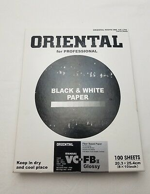 Oriental by Seagull VC-FBII Glossy Professional Photo Black and White Paper