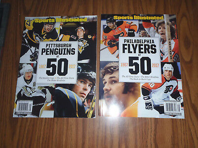 Lot Of 2~Sports Illustrated~Philadelphia Flyers & Pittsburgh Penguins At 50~New