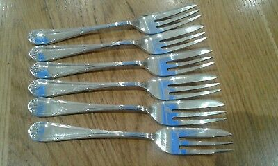 Set of 6 vintage  Mappin and Webb silver plated Cake Pastry Forks