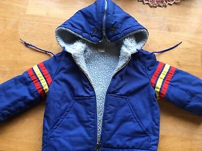 Vintage Kids Zip Up Ski Jacket Great Condition Retro Includes Shipping Size 2 US