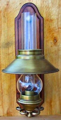 Vintage Style Electric Oil Lamp Wall Sconce - Wired & Ready For Use