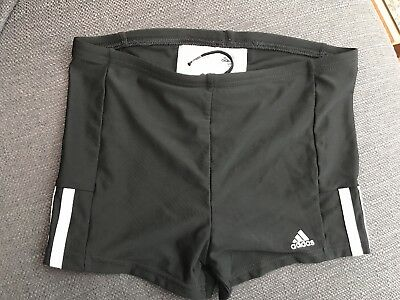 Adidas Boys Black Swim Boxer Short Trunks aged 11-12years