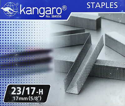 "Replacement Staples 23/17 (5/8"" / 17mm) for KW-Trio Long Reach Stapler"