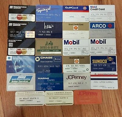 23 CHARGE CREDIT CARDS - 1960-90's GAS, SEARS, PENNEYS, OBSOLETE, DEFUNCT