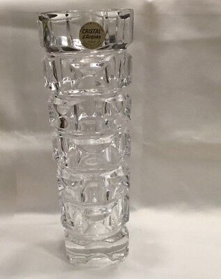 Nwt Vintage Cristal D'Arques  24% Genuine Lead Crystal Vase ~ Made In France