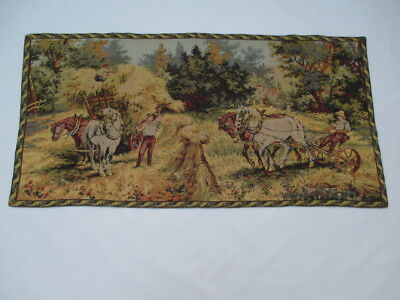 Old French / Belgium Tapestry Wall Hanging - 139 x 69 cm ( 4427 )