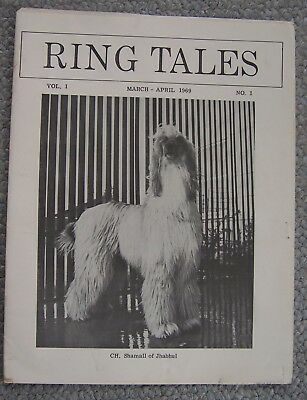 1969.Ring Tales.THE POTOMIC AFGHAN HOUND CLUB magazine WITH Code Of Ethics sheet