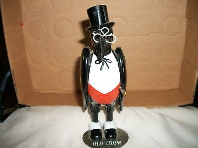 Vintage Old Crow Whiskey Advertising Bird With Glasses And Cane