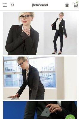 BETABRAND Womens Active Blazer Business Travel JACKET COAT Medium New