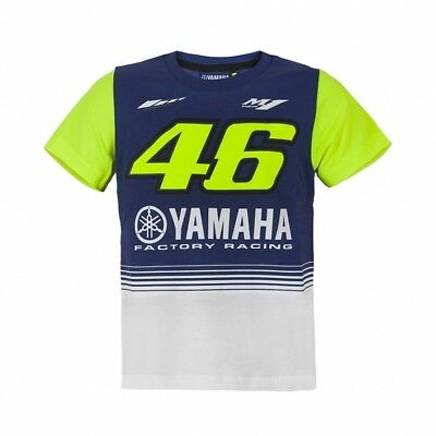 OFFICIAL Moto GP VR46 Rossi Yamaha 46 KIDS Boys Children Team T-Shirt – NEW