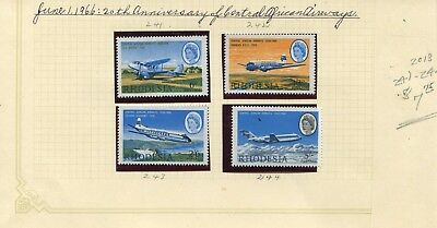 Weeda Rhodesia 241-244 VF MNH 1966 African Airways CV $7.75