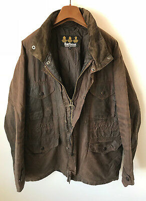Barbour Sapper Wax Jacket! Mens L/xl Brown! Coat! 48-50 Chest! Bedale! Skyfall!