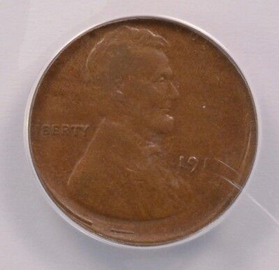 ANACS 1c 1917-S Wheat Cent 5% Off-Center VF-35