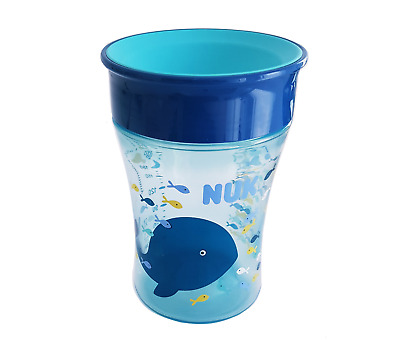 NUK Magic Cup Kinder Trinkbecher Becher Trinklern Tasse 230 ml blau