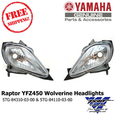 YAMAHA YFZ 450 YFZ450 RAPTOR 700 700R OEM LEFT SIDE LIGHT HEADLIGHT TRIM COVER