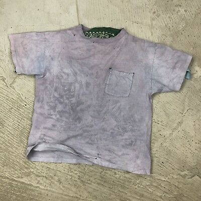 Worn Out Basic Blank Pocket T Shirt Faded Single Stitch USA Made Toxic Dyed