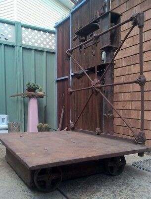 Antique Vintage Avery Cast Iron Wool Scales - Garden Display Man Cave Farmhouse