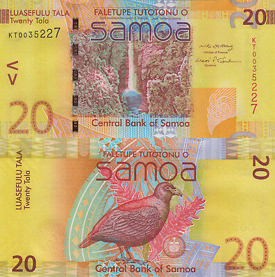 Samoa 20 Tala (2008) - 2008 Banknote of the Year/p40a UNC