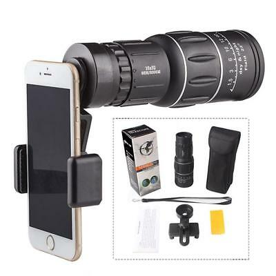 HD 16X52 Zoom Optical HD Lens Telescope Outdoor Monocular + Clip For Cell Phone