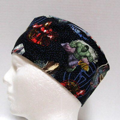 Men's Avengers Superhero Scrub Cap or Hat, Surgical Cap - One size fits most