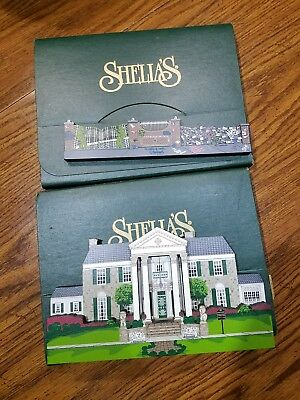 SHEILA'S Graceland Mansion and Wall-Gate 1999 Elvis home Set of 2