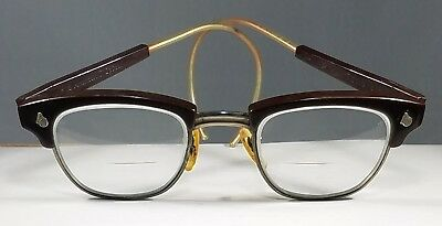 Excellent Vintage American Optical Rimless Bifocal Safety Glasses