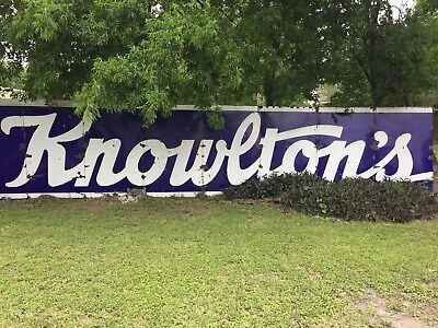 Antique Knowlton's Dairy Porcelain Sign