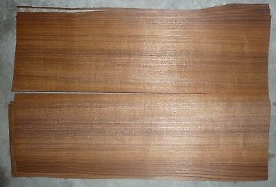 "quartered teak wood veneer 1/42"" 5.5""x21"""