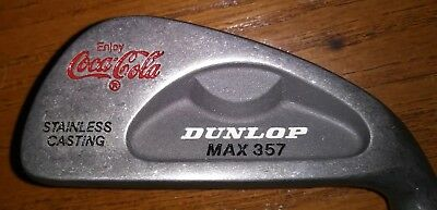 RARE Early 80's Coca Cola Collectable Golf Club Set Dunlop Max 357 Irons & Woods