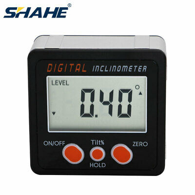 Aluminum Alloy Digital Protractor Inclinometer Angle Bevel Box Magnetic Base