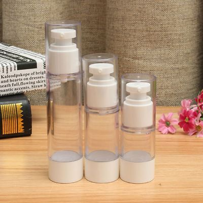 Vacuum Pump Vessel Travel Lotion Cosmetic Bottle Perfume Toiletries Container