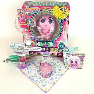 Nerlie Doll FIDGETS w/BOTTLE Purple Shakey Shake PACIFIER Distroller Neonate Lot