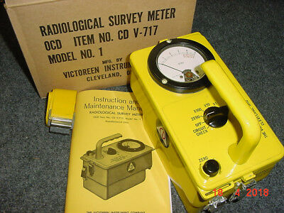 16 CDV-717 Victoreen Radiation Detector Survey Meter Ser. 16167 w/BOX!