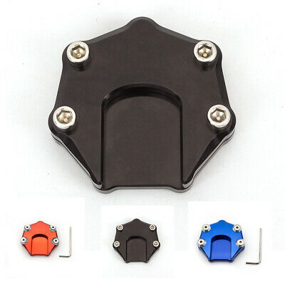 CNC Universal Motorcycle Sidestand Enlarge Foot Plate Kickstand Extension Pad