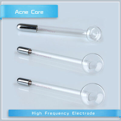 3PCS Mushroom High Frequency Electrode Facial Skin Care Glass Wand Replacement