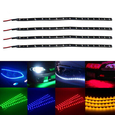 "6 Pack  DC 12V Waterproof 1Ft 15 LED Strip Underbody Light with 6"" wires 4 motor"