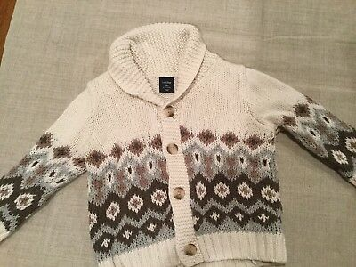 Baby Gap Knit Toddler Boys Sweater With Buttons Size 12-18 Months