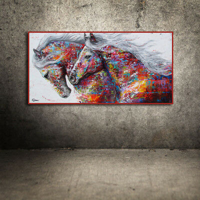 Modern Art Oil Colourful Horse Painting Canvas Print Wall Art Picture Home Decor