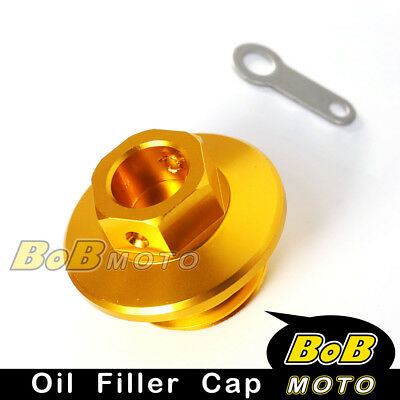 Racing Engine Gold Oil Filler Plug Cap For YAMAHA WR250F 2003-2009 04 05 06