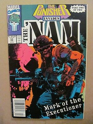 The 'Nam #53 Marvel 1986 Series Punisher Invades Part Two Newsstand 9.2 NM-