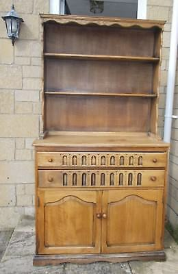 Old Charm Vintage Oak Dresser 2 door cupboard with display top