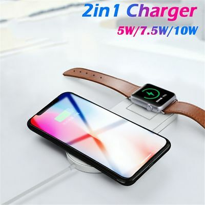 Phone Holder QI Wireless Charger for IPhone X 8 Plus Apple Watch 3 AirPower