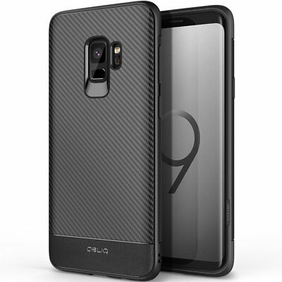 OBLIQ Flex Carbon Texture Slim Soft Protective Cover For Galaxy S9 S9+ Plus Case