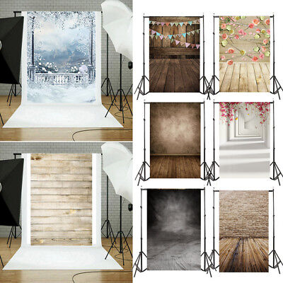 Vinyl Wood Wall Floor Birthday Photography Studio Prop Backdrop Background 3x5FT
